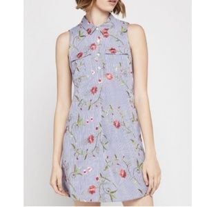 BCBG Sleeveless Floral Embroidered Dress Size L